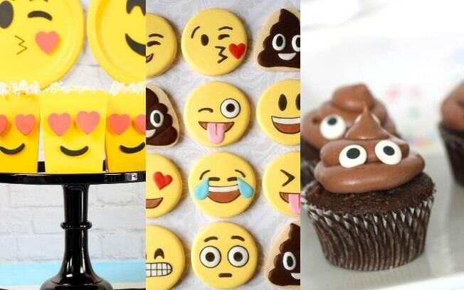 Dá para fazer cupackes, bolachas e vários docinhos e comidinhas com referência nos emojis encontrados nas redes sociais