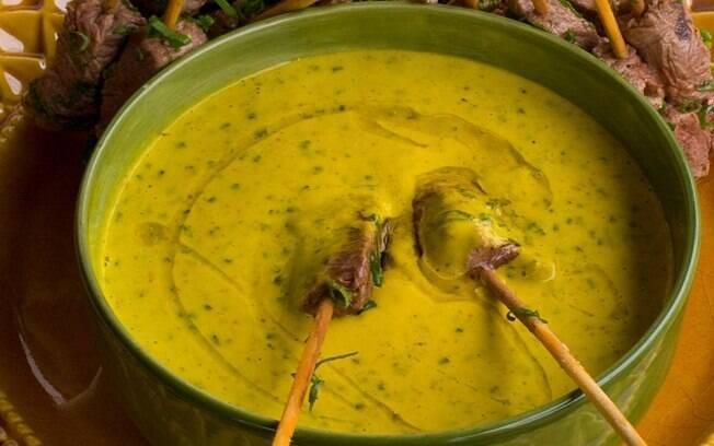 Foto da receita Filézinho com salsa de pepino e manga pronta.