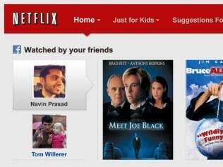 Netflix mostrará filmes assistidos por amigos para ajudar usuário na escolha do filme
