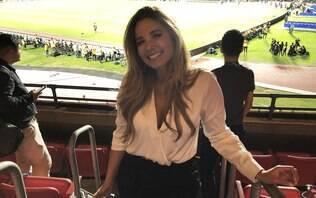 Repórter colombiana rouba a cena e faz mais sucesso que o Brasil no Morumbi