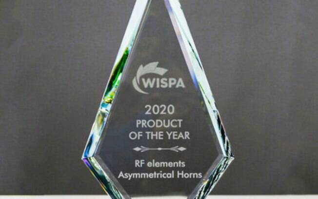 Asymmetrical Horns da RF Elements eleita para o prêmio de Produto do Ano da WISPA 2020 pelo segundo ano consecutivo