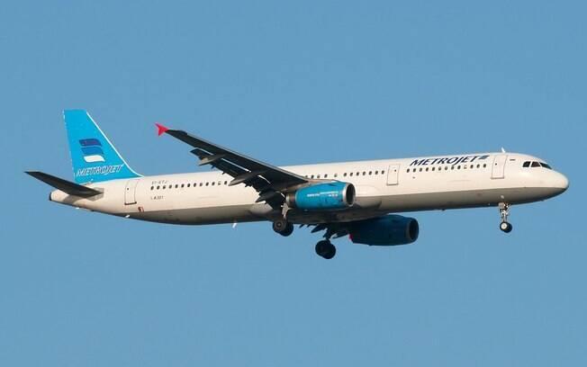 EI-ETJ é um Airbus A321que pertence à companhia Kolavia/Metrojet. Foto: Reprodução/Flightradar24