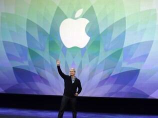 Tim Cook, CEO da Apple em evento recente