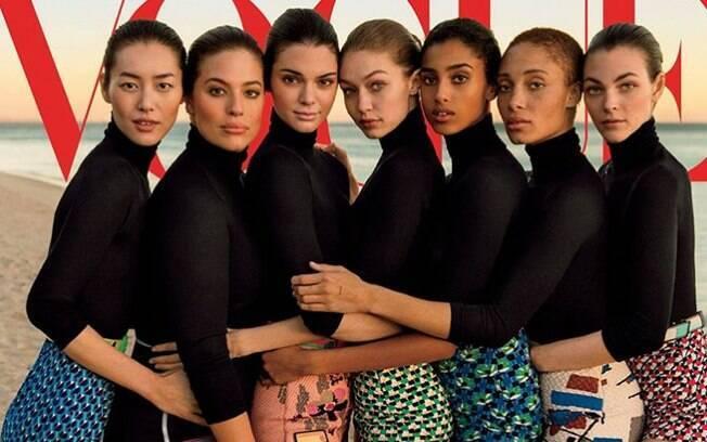 A capa original da 'Vogue' teve o objetivo de mostrar a diversidade entre as modelos mais famosas do momento