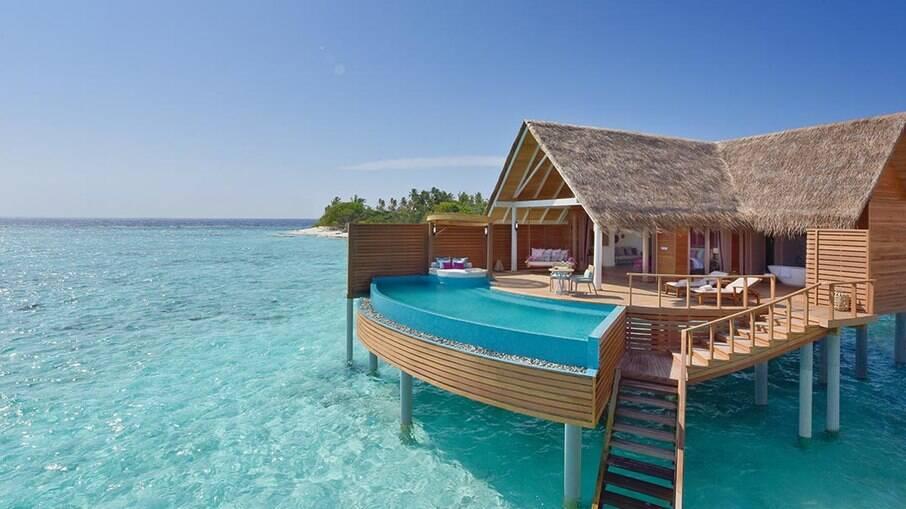Acomodação de Marcela e Luiza nas Maldivas