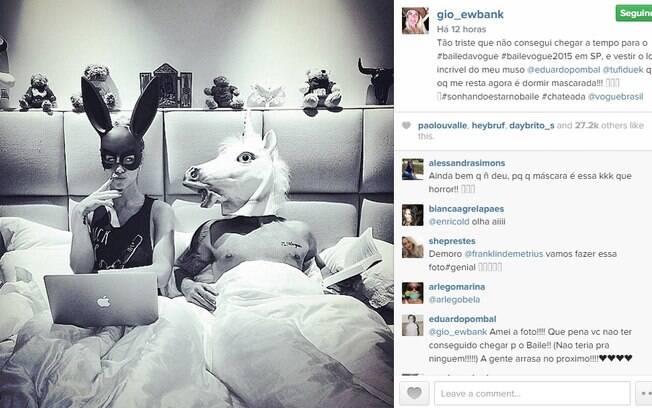 Giovanna Ewbank e Bruno Gagliasso acabaram ficando em casa