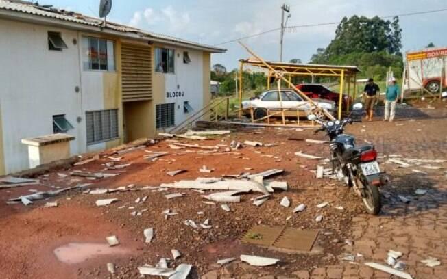 Estragos provocados pela chuva em Santa Catarina