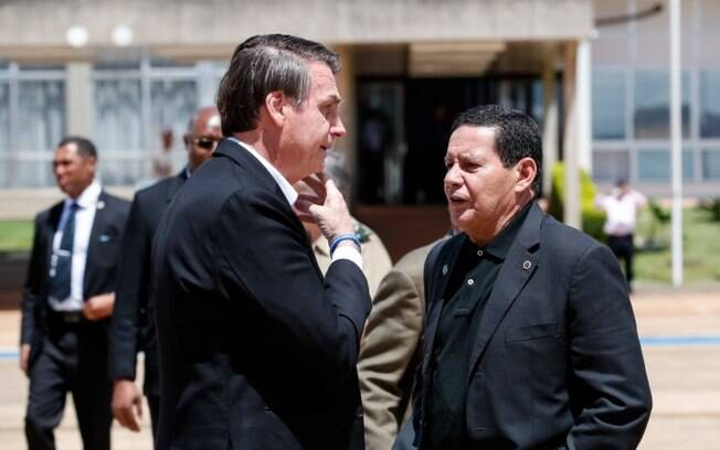 Mourão comentou declaração polêmica do presidente Bolsonaro.