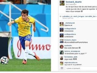 Bernard usa o Instagram e deixa no ar que será o titular contra a Alemanha