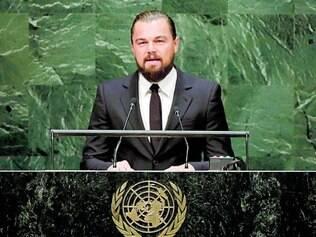 """Realidade. Ator Leonardo DiCaprio discursou durante a cúpula e disse que mudanças não são """"histeria"""""""