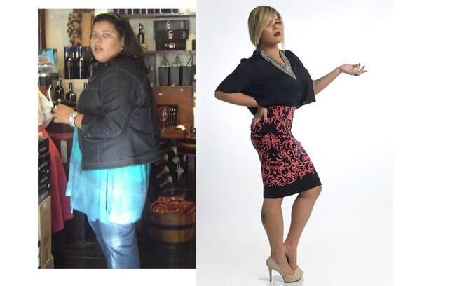 Kall Medrado antes de perder 150 quilos e depois da dieta. Clique na foto e relembre a história da cantora