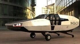 Carro voador inteligente pode pousar em telhados