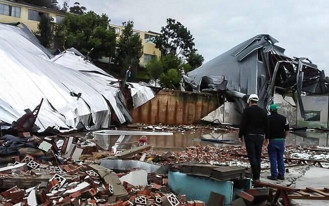O ciclone que passou por Santa Catarina provocou mortes e muita destruição