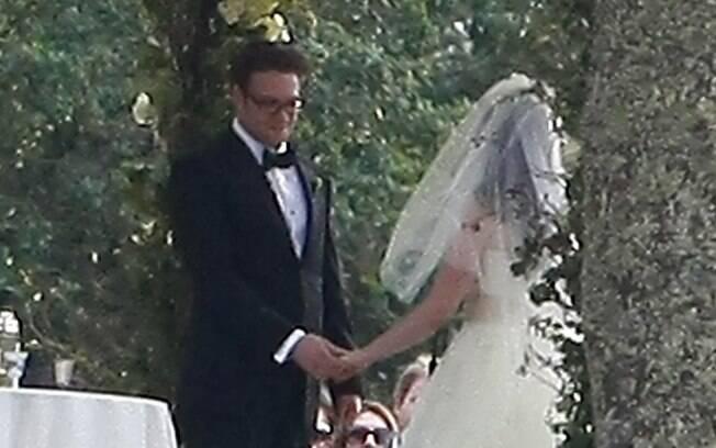 Imagens do casamento de Seth Rogen