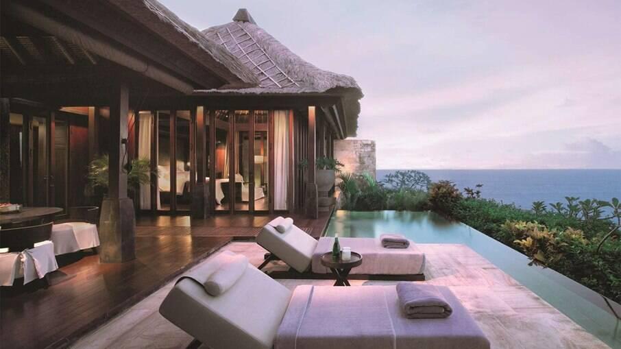 Bvlgari Resort Bali, onde Pedro Scooby e Cintia Dicker estão hospedados