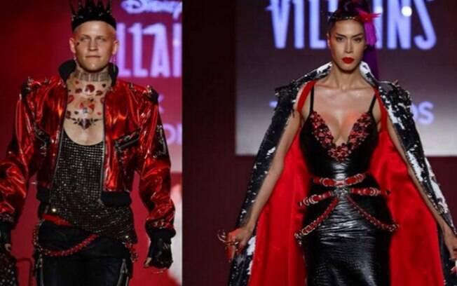Para coleção da fashion week, grife The Blonds usou tecidos como couro, borracha e látex