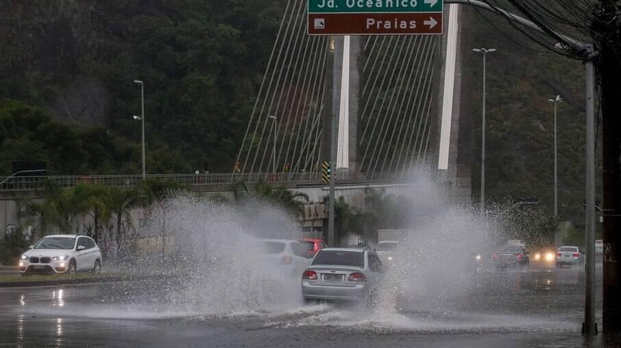 Chuva no Rio interdita casas na zona sul da cidade