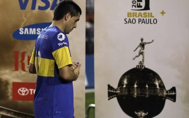 Riquelme lamenta vice da Libertadores para o  Corinthians