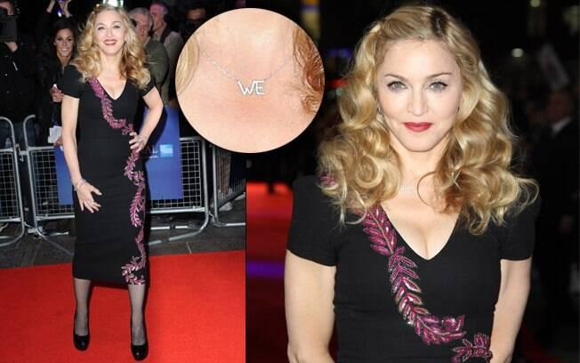 O look da cantora para o tapete vermelho Madonna