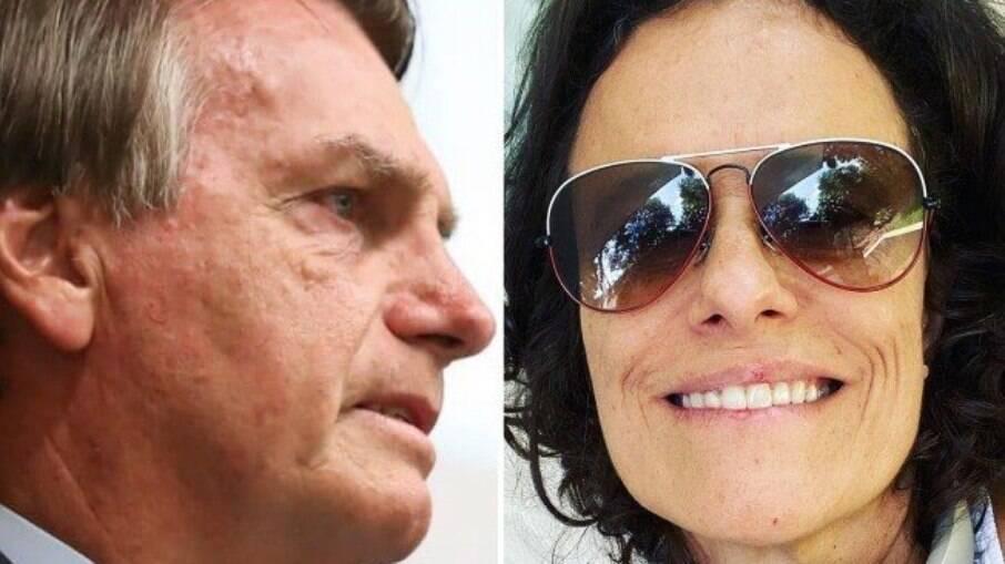 Jair Bolsonaro e Zélia Duncan