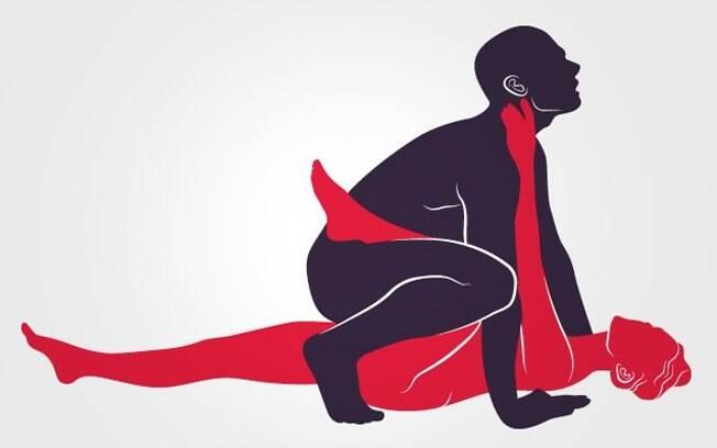 A mulher recebe o sêmen do parceiro em uma posição que auxilia a chegada do espermatozoide até o útero