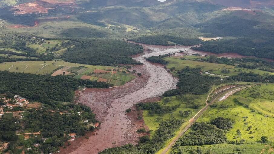 Região atingida pelo rompimento da barragem de Brumadinho – MG