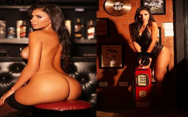 Clariane Caxito abusou do charme e sensualidade em ensaio para a revista digital Playboy Brasil