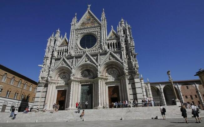 Catedral de Duomo, em Siena, uma das igrejas mais lindas da Itália, datada de 1350