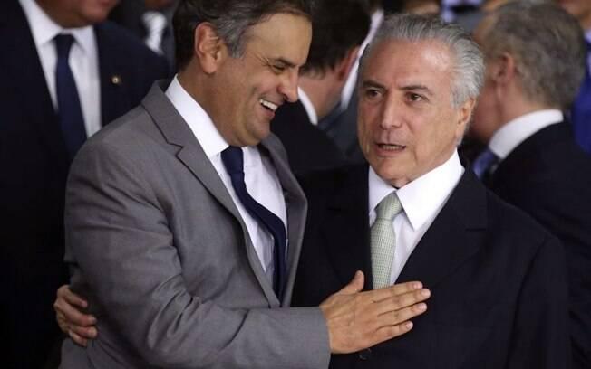 Em conversa gravada por Joesley Batista, Aécio Neves afirma que Michel Temer pediu retirada de ação contra ele e Dilma