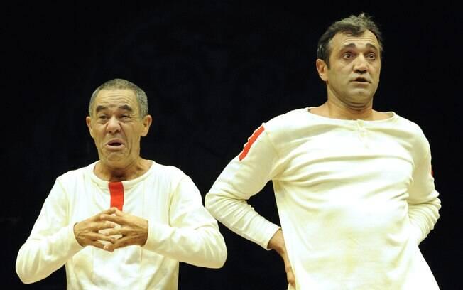 Domingos Montagner durante os ensaios da peça