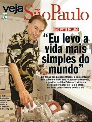 Silvio Santos é capa da revista Veja São Paulo