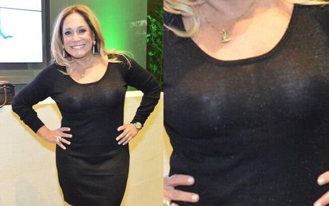 Susana Vieira confere inauguração de academia no Rio de Janeiro com vestido transparente e sem sutiã
