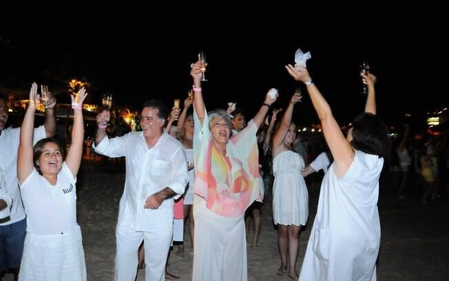 Tony Ramos festeja 2014 em família