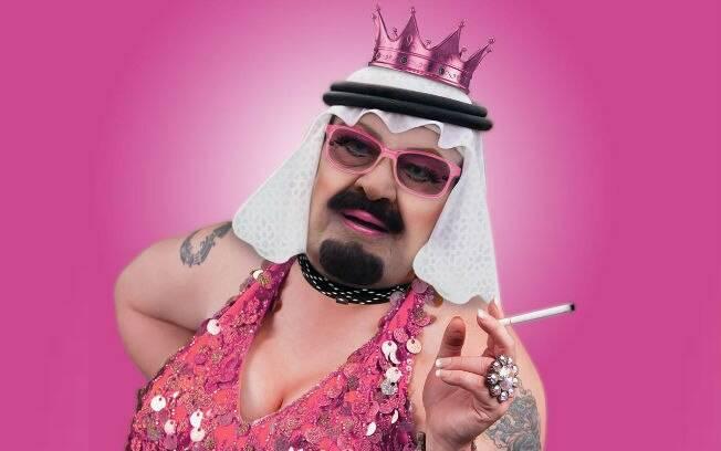 O retrato do Rei Abdullah, da Arábia Saudita, como uma drag queen bonachona e fumante irritou lideranças árabes