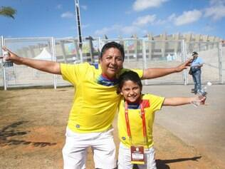 Fabian e o filho Gabriel vieram conhecer Belo Horizonte e conferiram de perto o Mineirão
