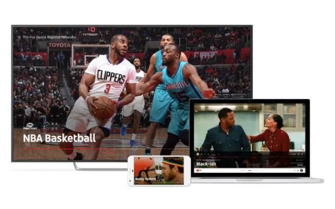 YouTube TV pode ser reproduzido em televisões, computadores, smartphones ou tablets