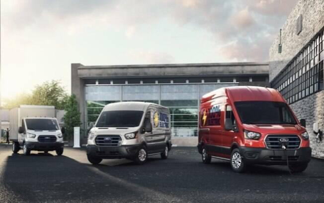 A linha E-Transit traz três versões com comprimentos de carroceria diversos