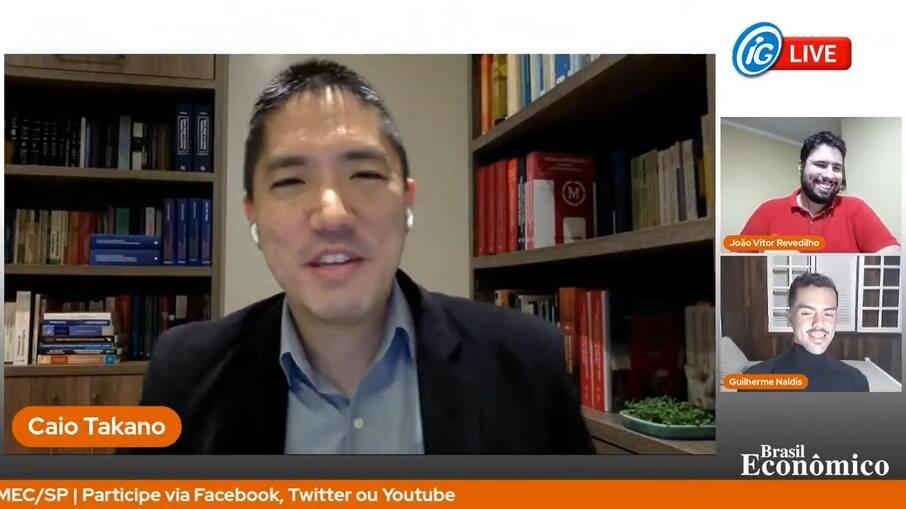 Caio Takano é especialista em direito tributário e foi o entrevistado da live do Brasil Econômico desta quinta-feira (24)