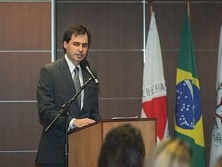 Procurador-geral do Ministério Público de Contas, Daniel de Carvalho Guimarães, em solenidade no Palácio Tiradentes
