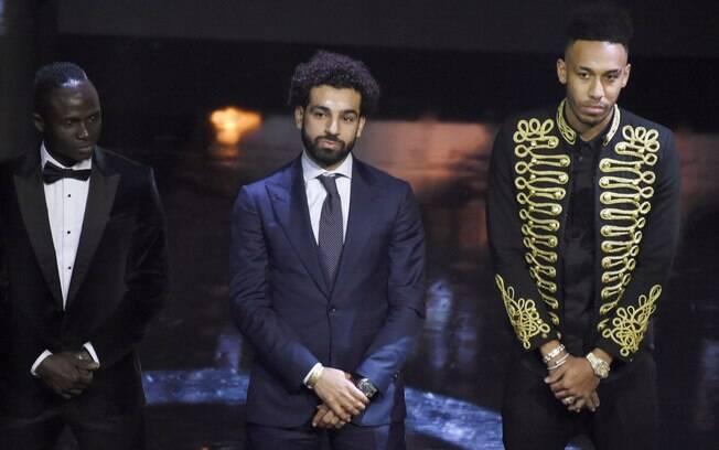 Salah superou Sadio Mané e Aubameyang, os outros dois finalistas