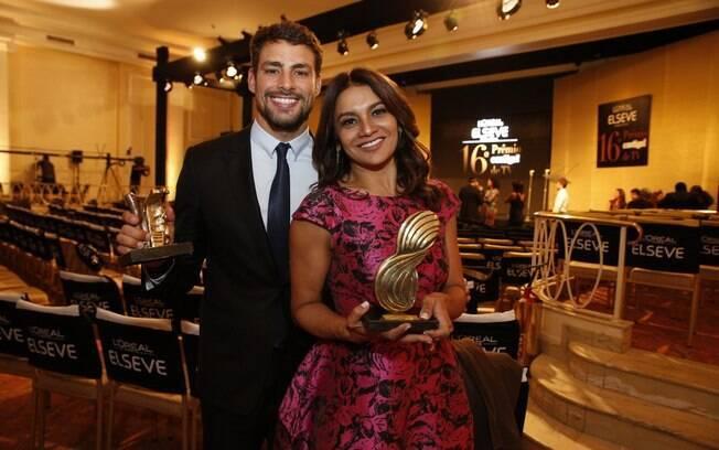 Premiados: Cauã, por Leandro e Dira Paes, por Celeste, de 'Amores Roubados'