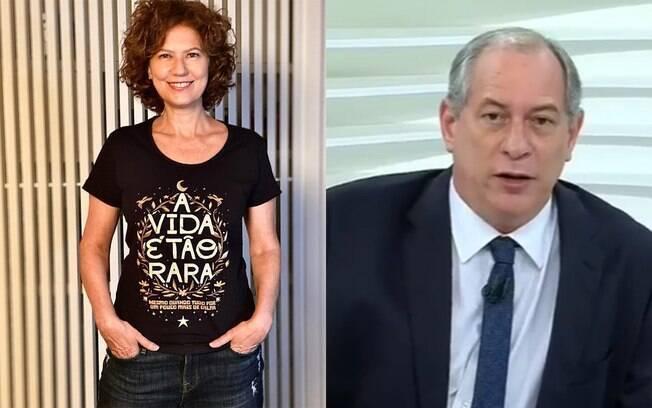 Patricia Pillar deseja feliz aniversário para Ciro Gomes