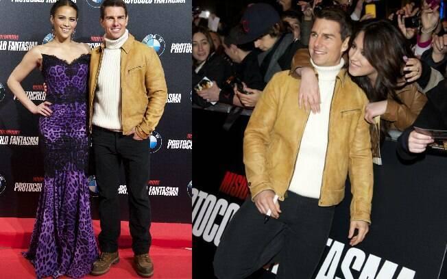 Tom Cruise no lançamento de