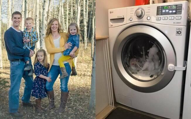 Lindsey McIver postou um relato que viralizou sobre acidentes com crianças, após a filha ficar presa em máquina de lavar