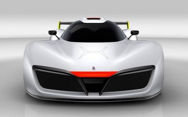 A Pininfarina decidiu construir o H2 SPEED com linhas sinuosas, fluidas e arredondadas, com poucos ângulos, para favorecer a aerodinâmica