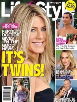 Revista americana diz que Jennifer Aniston está grávida de gêmeos
