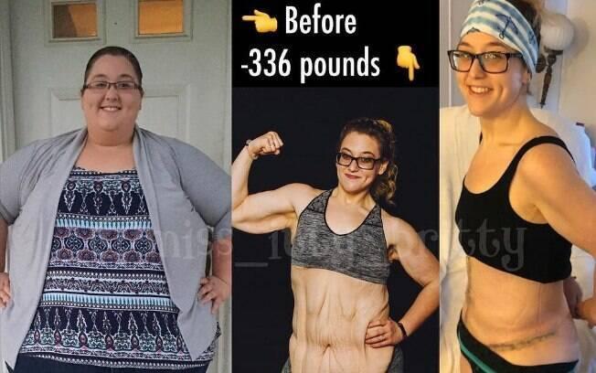 Brittany precisou usar uma balança industrial que marcou 233 kg antes de começar a, de fato, perder peso e mudar de vida