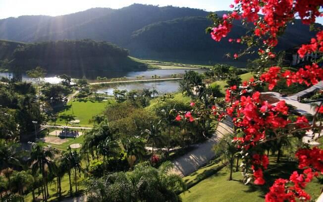 Fazzenda Park Hotel tem uma ampla área verde para férias revigorantes