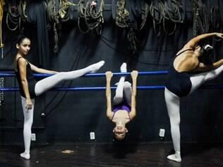 Da esquerda para a direita: Maria Eduarda Pereira, Luana Bitencourt e Leticia Natal, todas com 11 anos