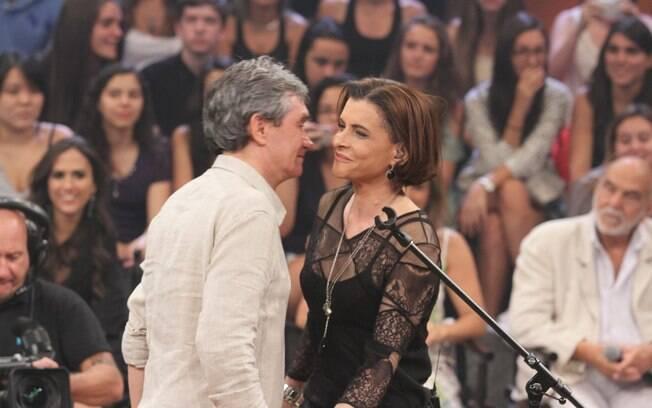 Serginho Groisman e Marina Lima